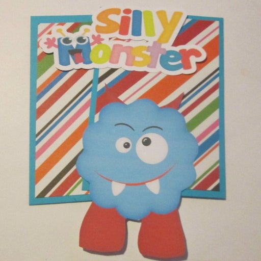 Silly Monster - Scrapbook or Card Set