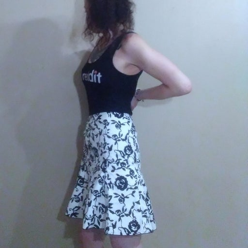 White House Black Market Floral Skirt 4