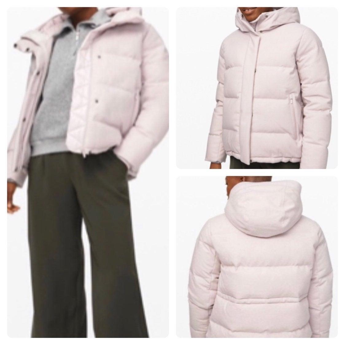 NWOT Lululemon Wunder Puff Wool jacket Pink 8