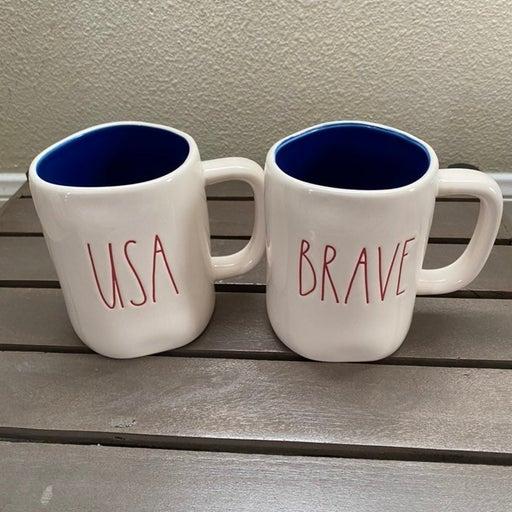 Rae Dunn USA & Brave Mugs