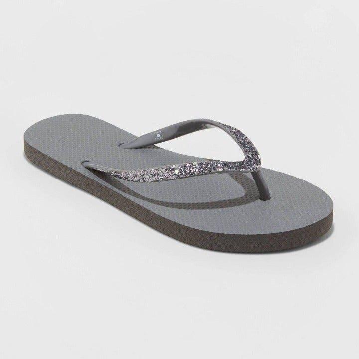 Shade & Shore Brynn Glitter Sandals 11