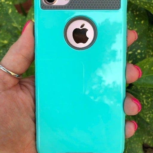 NEW Teal Hybrid Case For iPhone 7/8