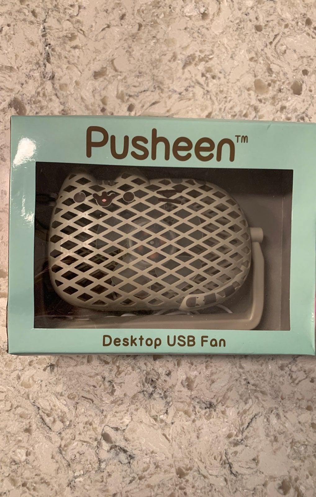 Pusheen desk fan
