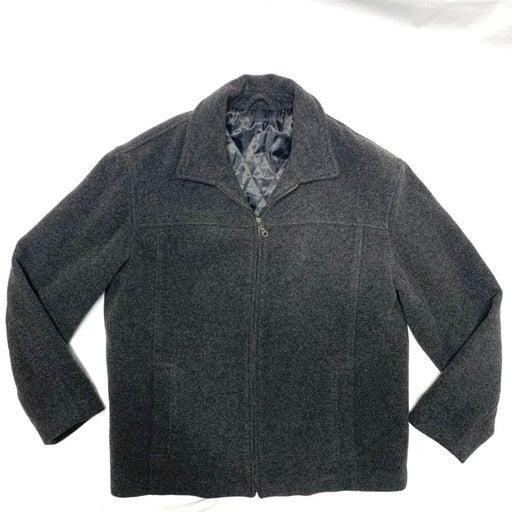 Covington Gray Wool Zip Pea Coat Jacket