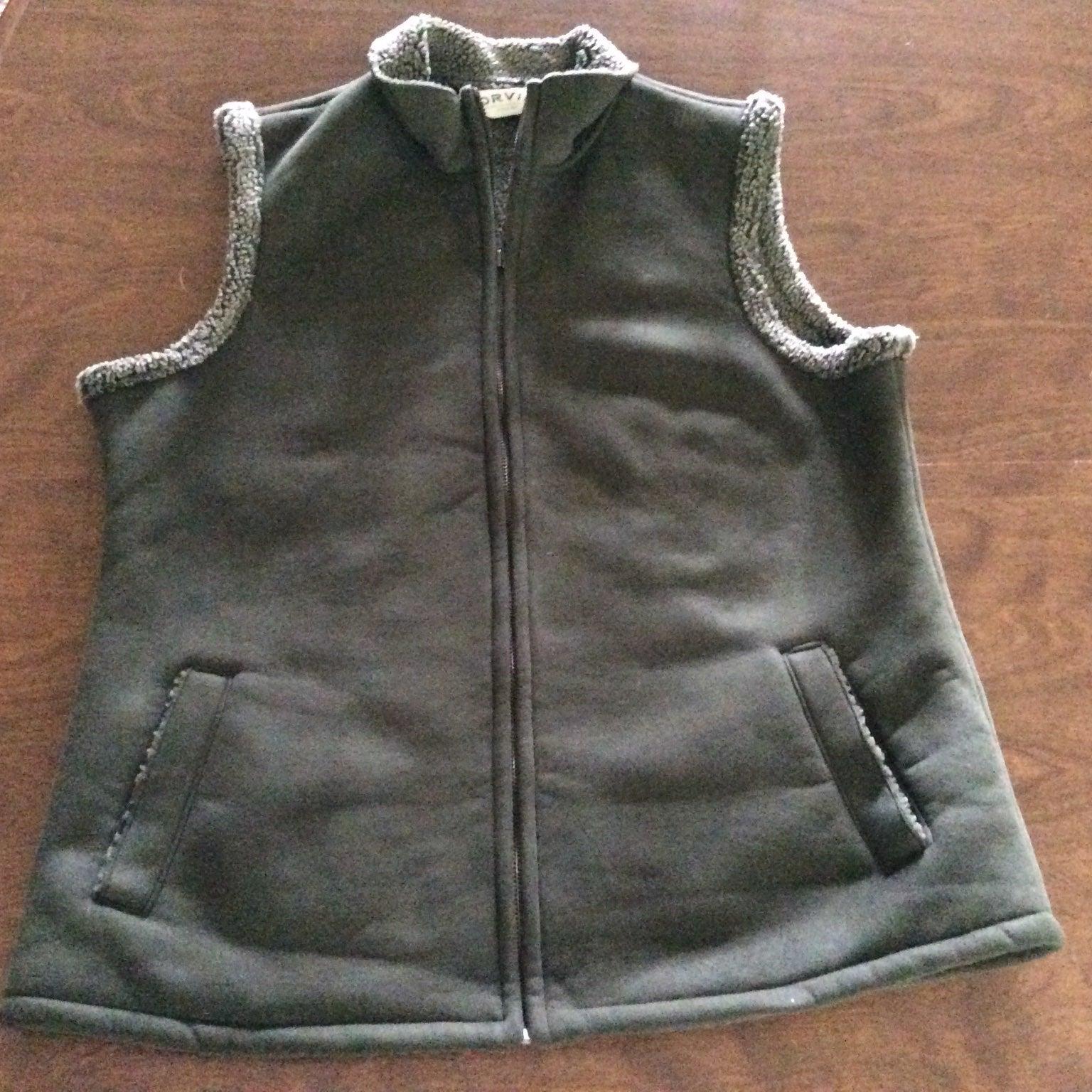 Orvis Sherpa Lined Vest Full Zip Medium