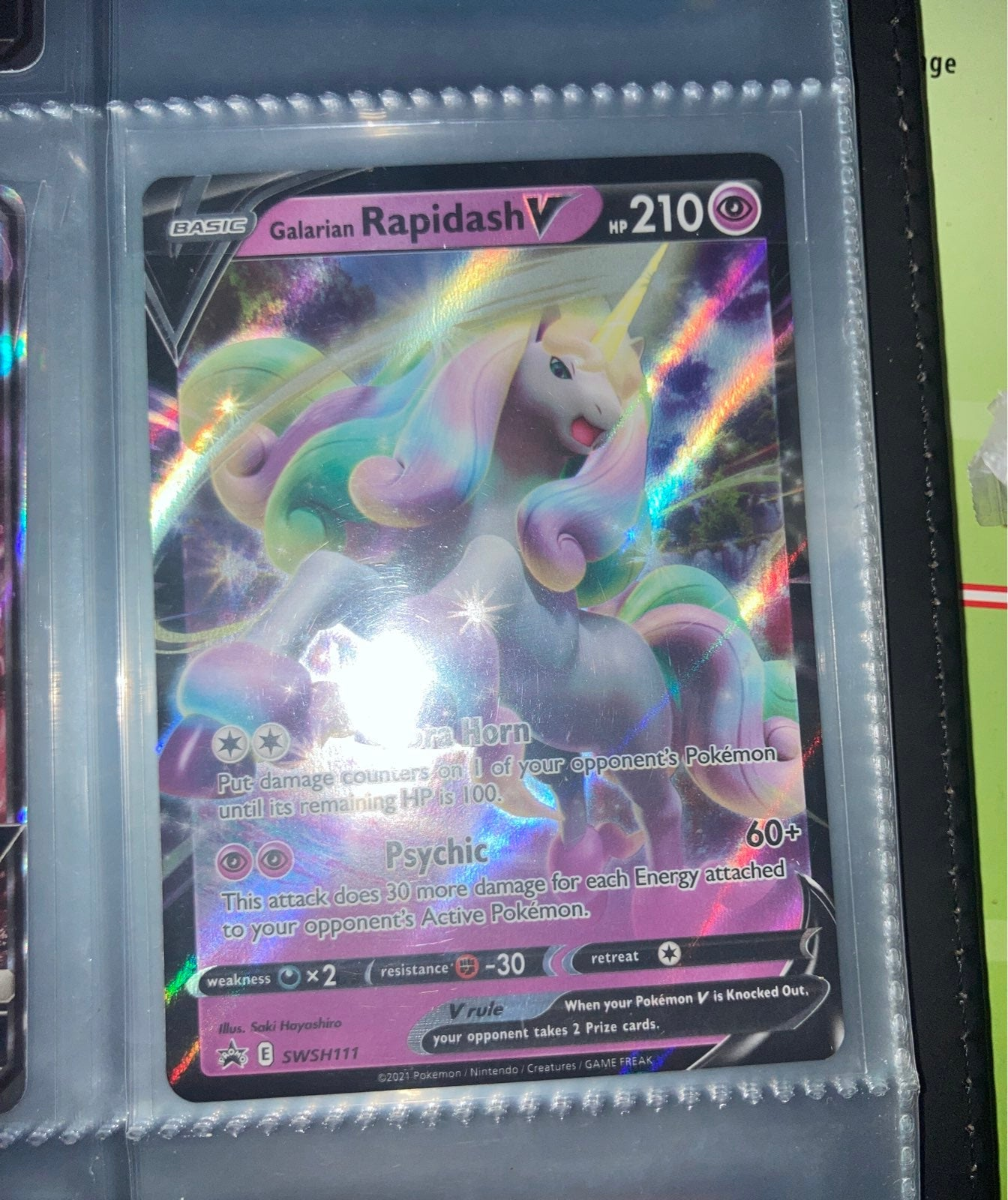 Galarian Rapidash Pokemon Card