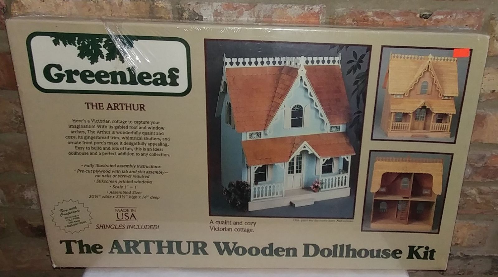 The Arthur Wooden Dollhouse Kit 1:12