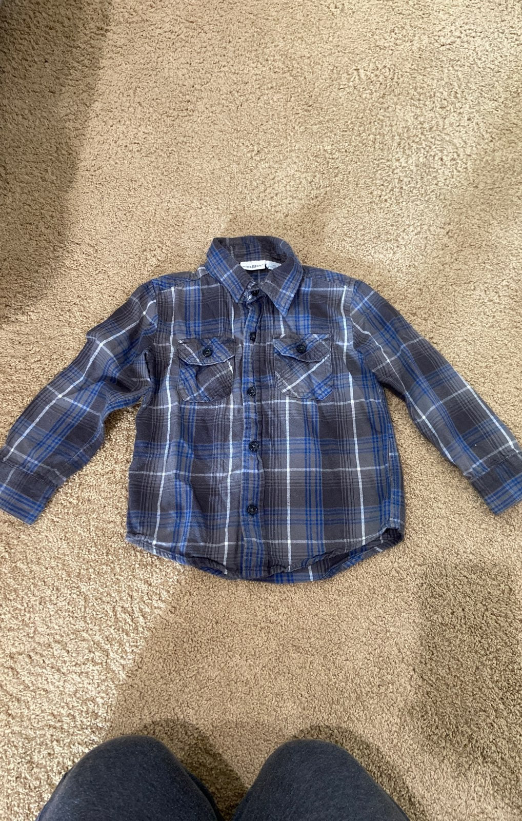 Boys 3t Plaid Flannel long Sleeve Shirt