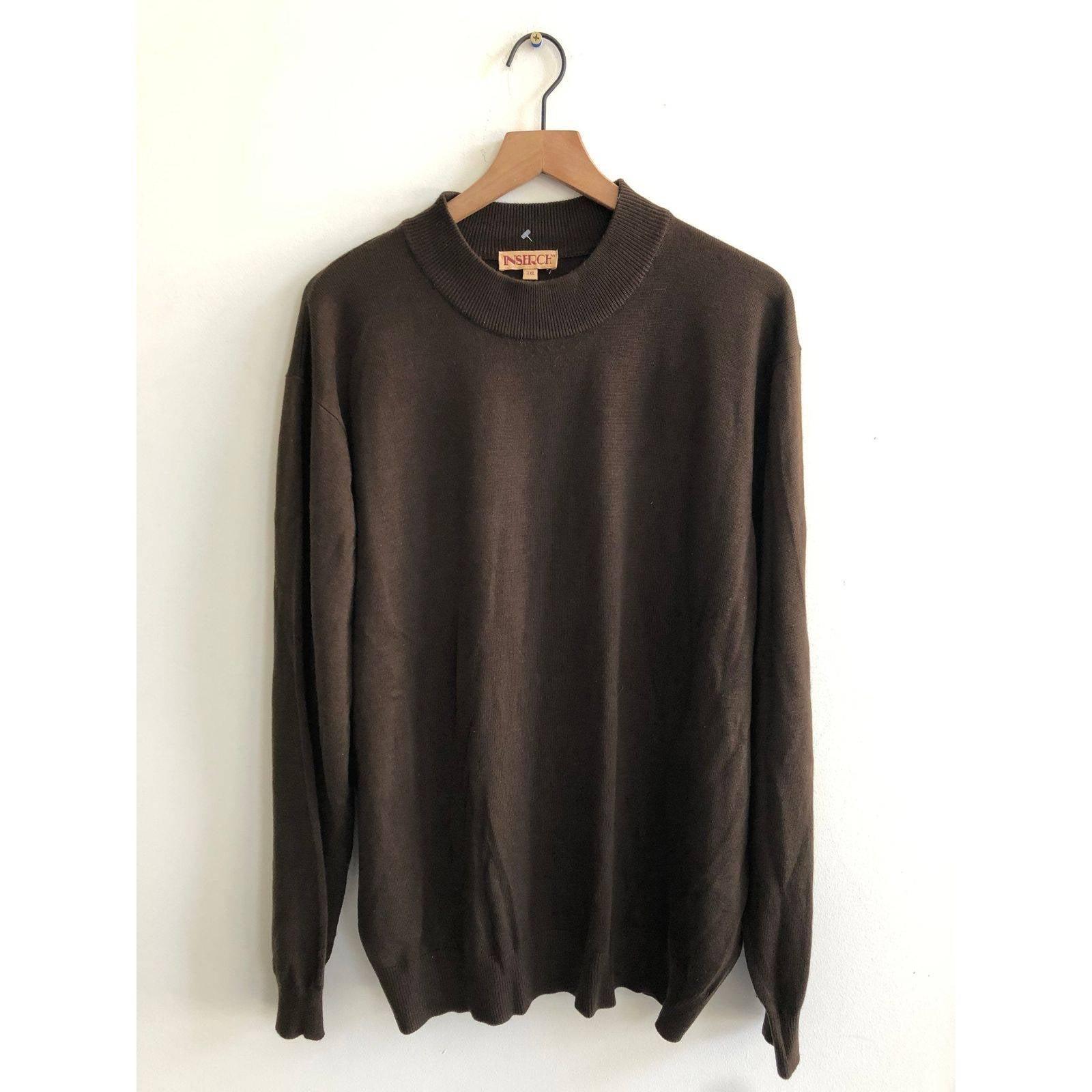 Vintage Brown Mockneck pullover sweater