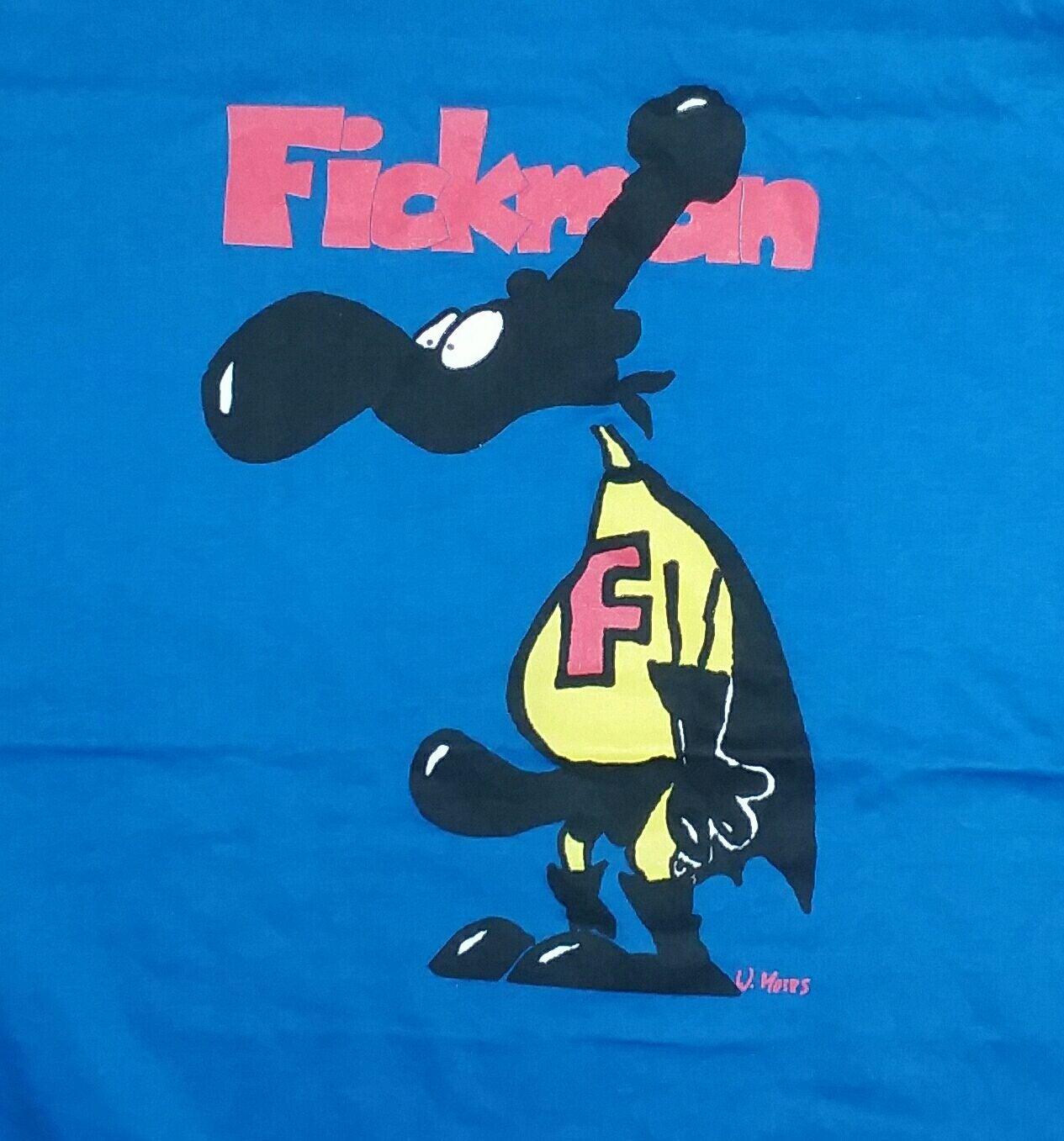 Weird funny Fickman t shirt superman