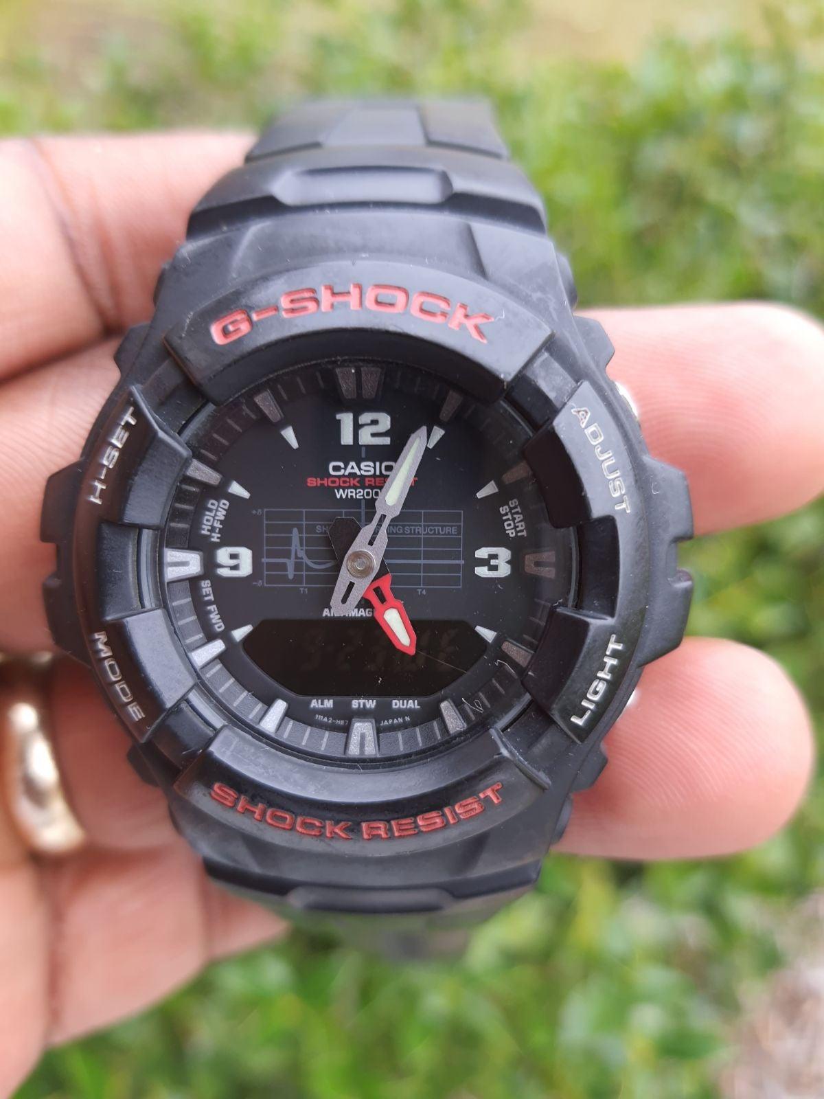 G Shock G100-1BV Analog Digital Wristwat