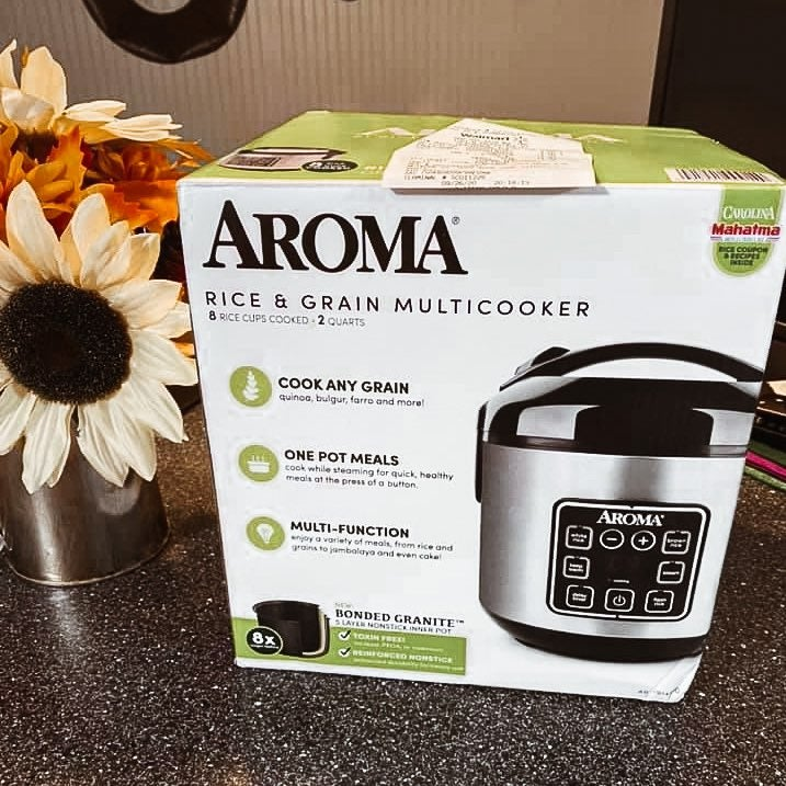 Aroma 8-Cup Rice & Grain Cooker, Steamer