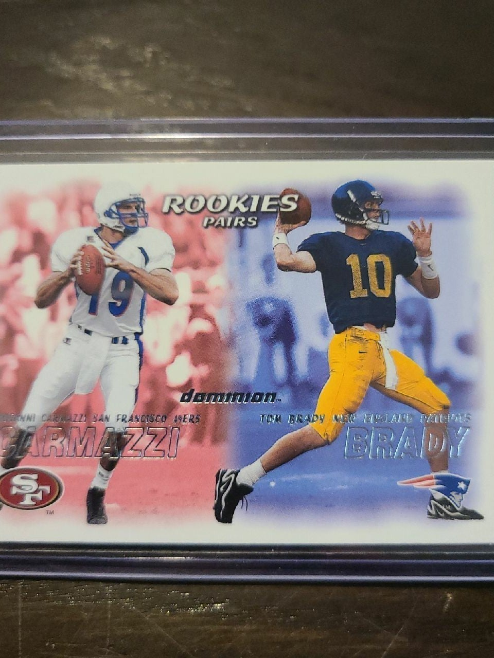 2000 dominion BRADY ROOKIE CARD