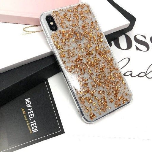 NEW iPhone X Orange Glitter Case