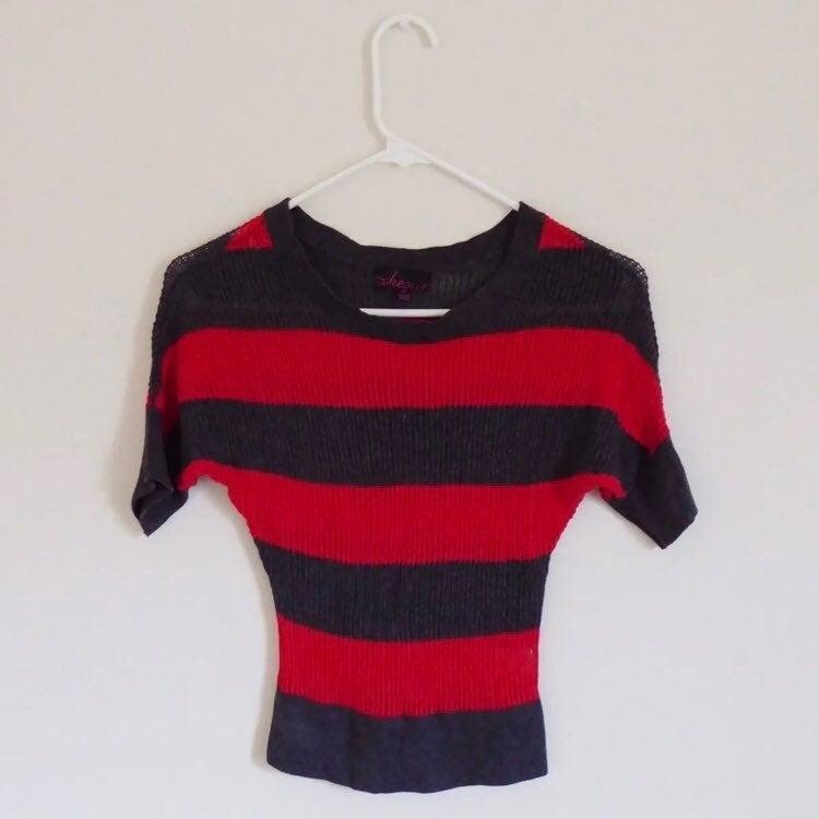 Takeout Striped Knit Top