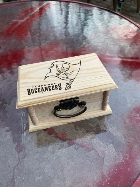 Buccaneers Engraved Jewelry / Stash Box