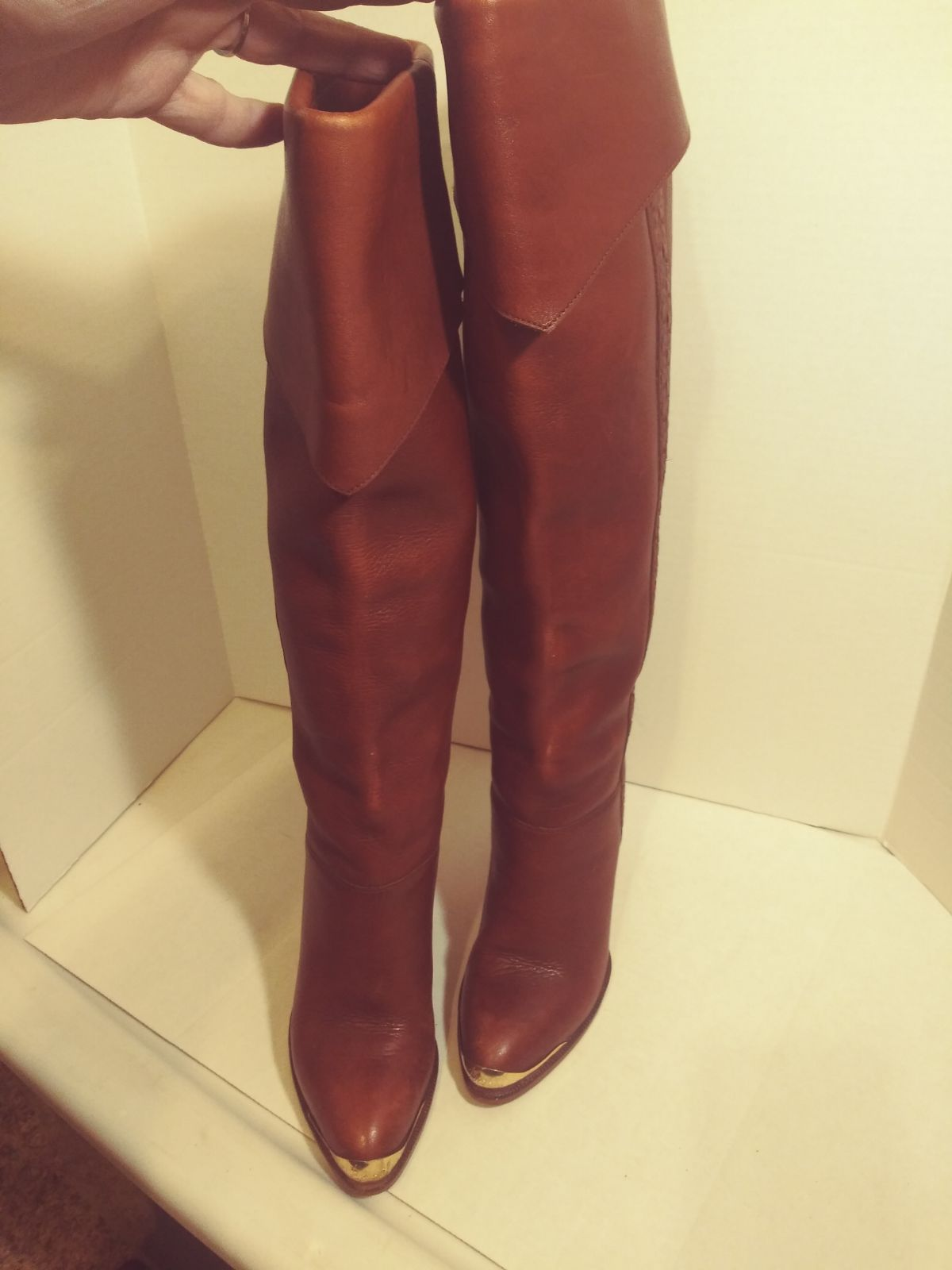 Vintage Brazil womens high knee high hee