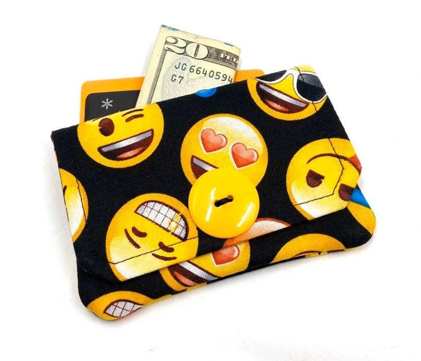 Emoji Fabric Card Wallet- Handmade
