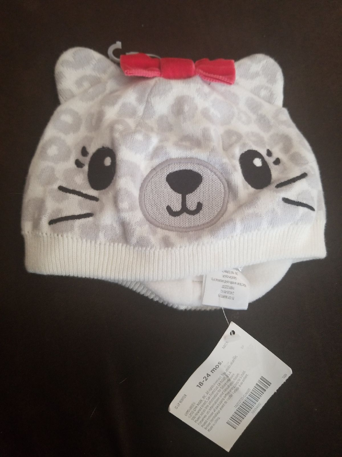 Gymboree cozy kitty hat 18 24 months nwt