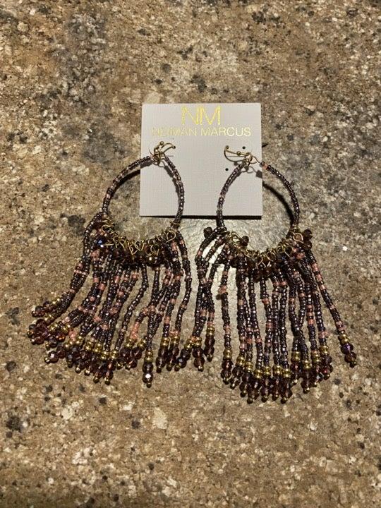 Neiman Marcus seed bead dangle earrings