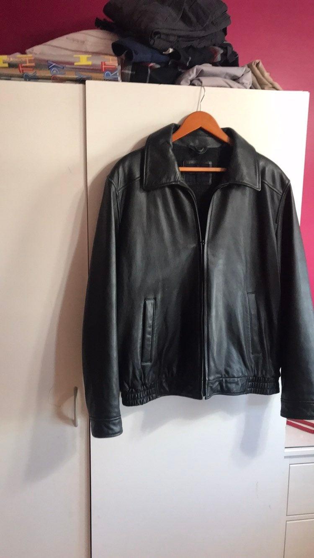 Men large tommy hilfiger Leather Jacket