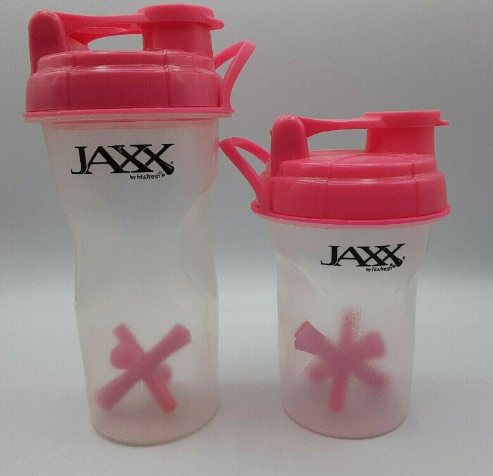 Jaxx Shaker Shaker Cups,24oz, 16oz,2Pck