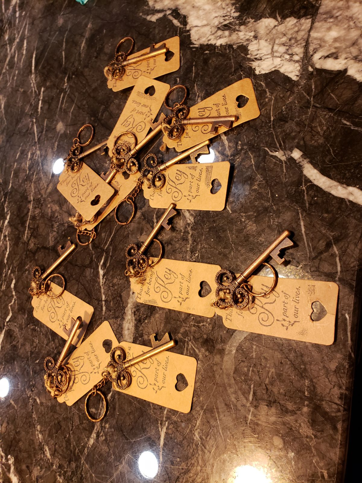 11 Key chain favors