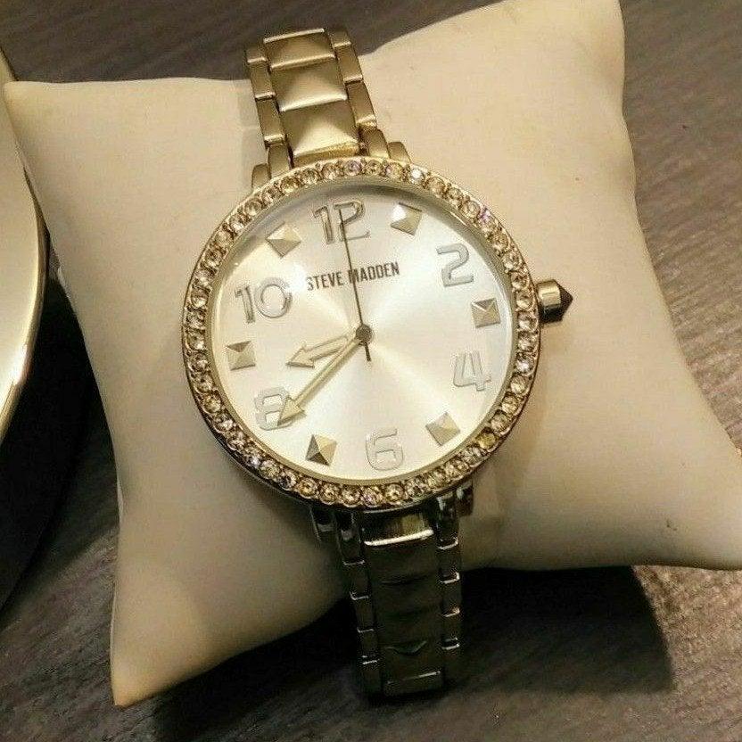 Steve Madden Stainless Steel Watch