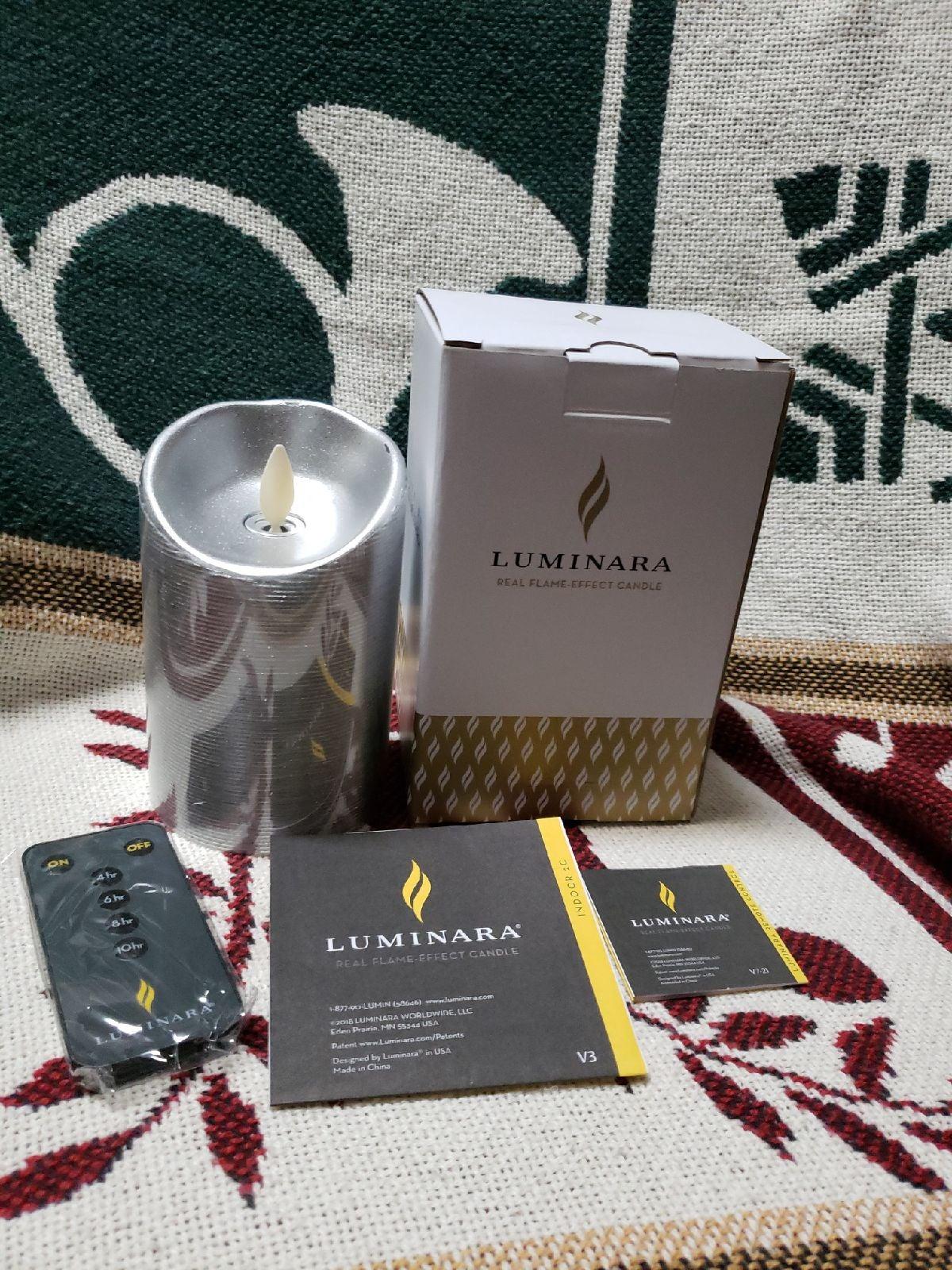 Luminara Silver Candle W/Remote