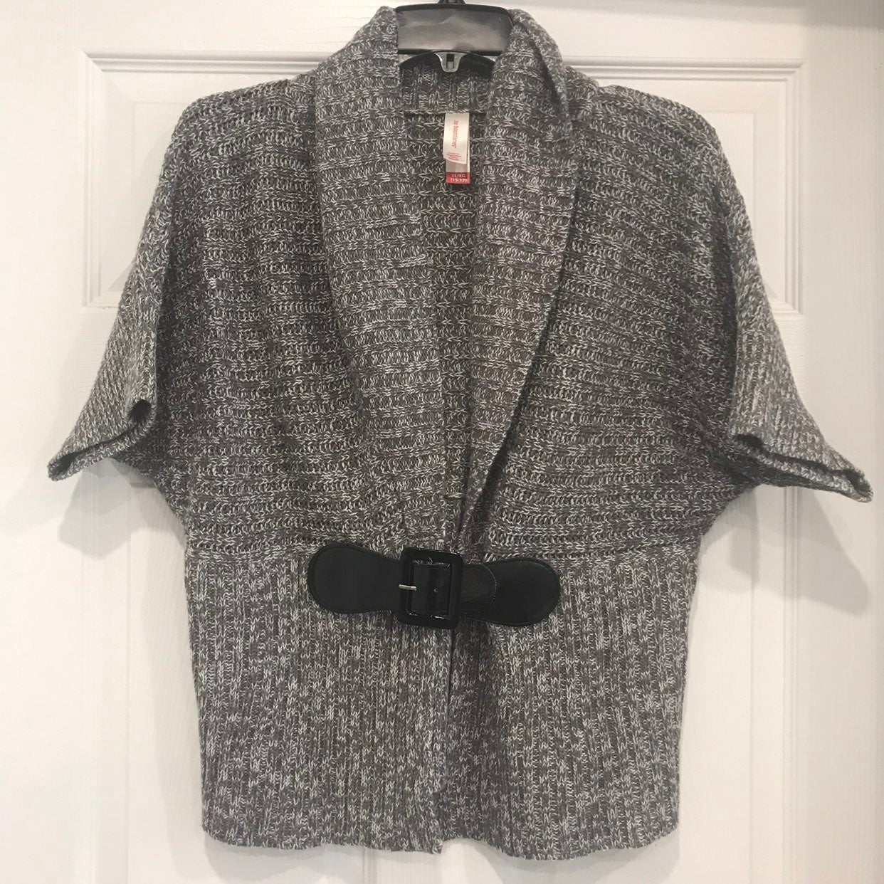 Gray Knitted Caridgan Blouse