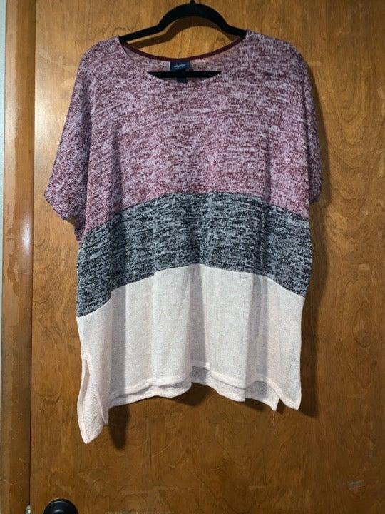 Large Color Block Knit Shirt