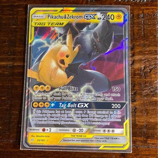 Pikachu and Zekrom GX 33/181 pokemon