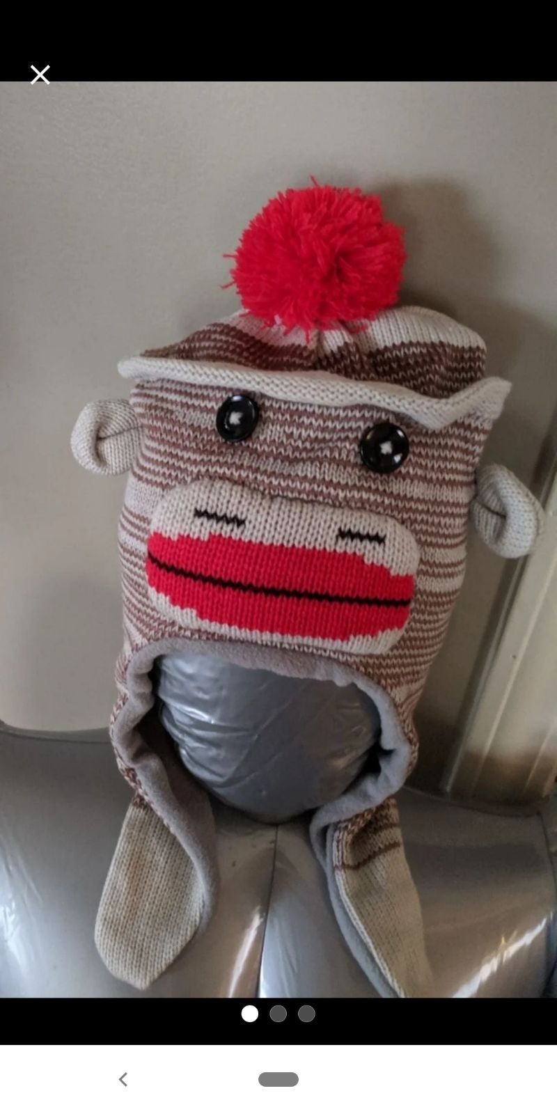 Toddler Monkey Winter Hat