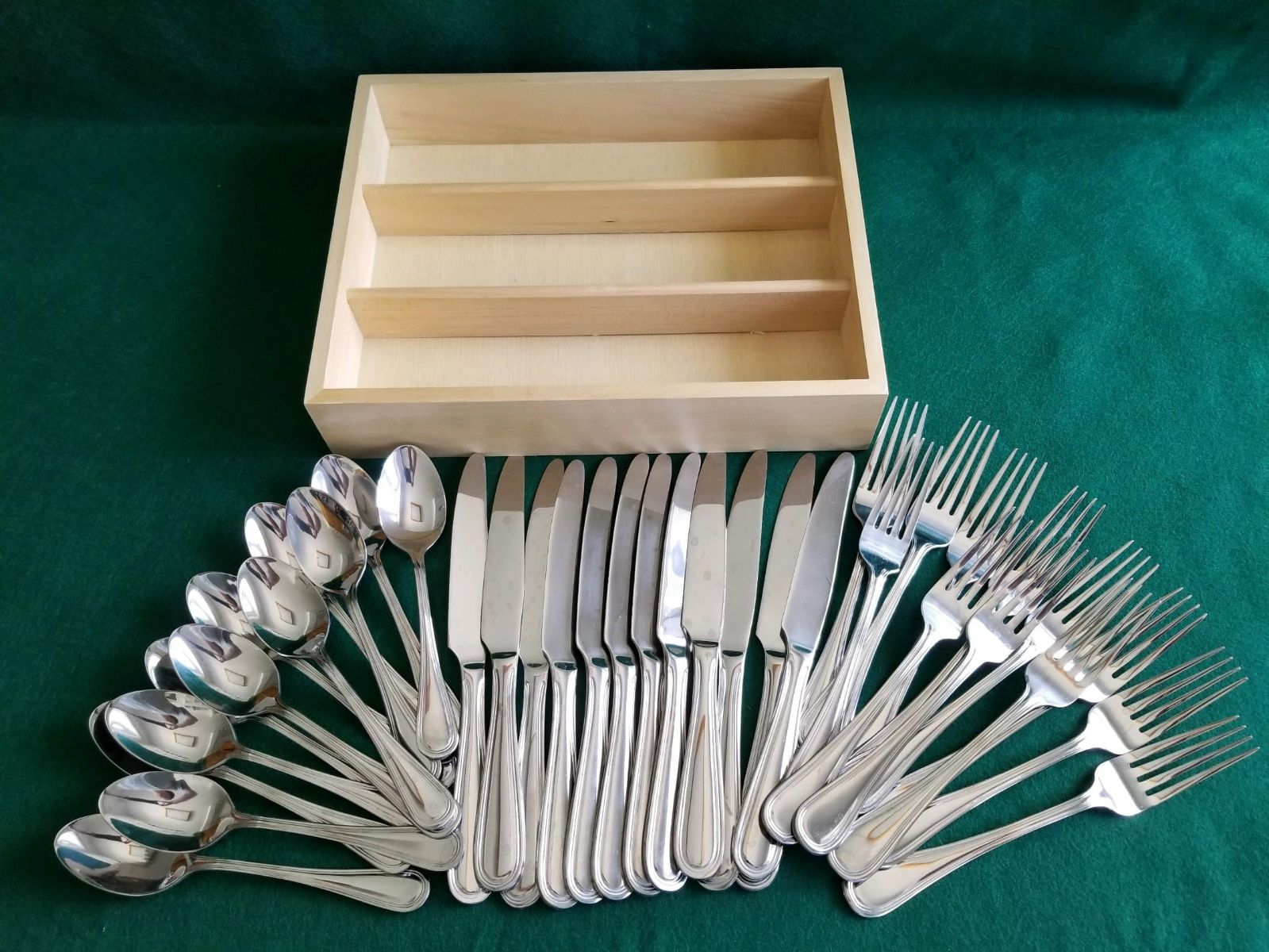 Stainless steel utensils- 36 piece set -