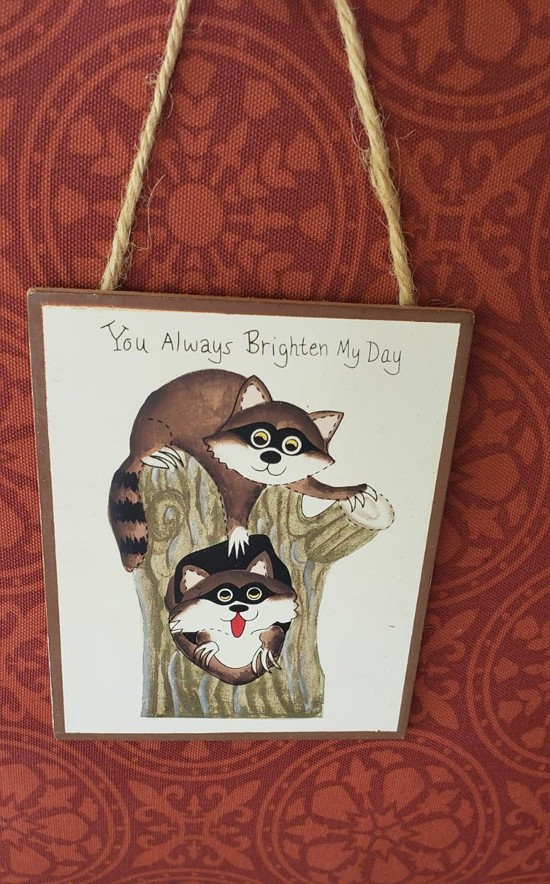 Raccoon. You always brighten my day