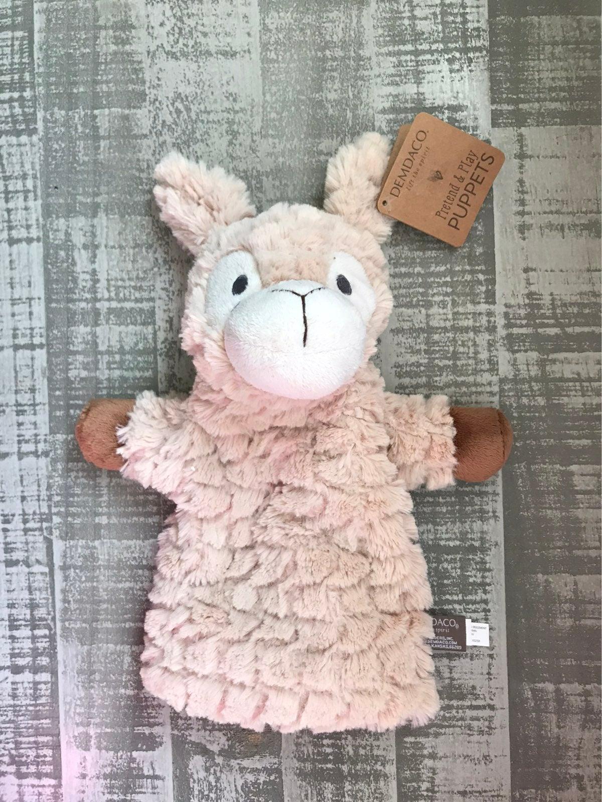 NWT Demdaco Luna Llama Puppet Plush