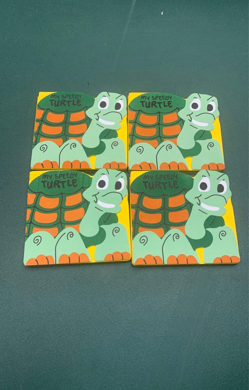 My Speedy Turtle sponge books x4