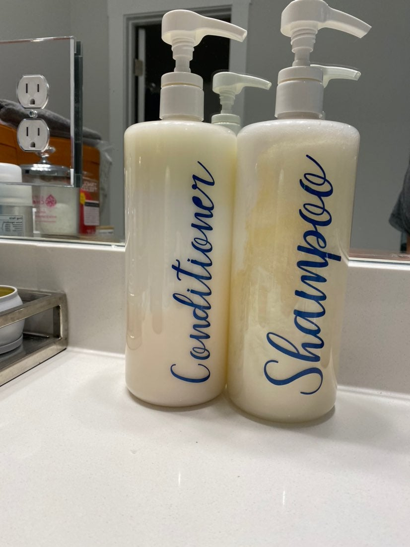 Custom Shampoo and Conditioner Bottles