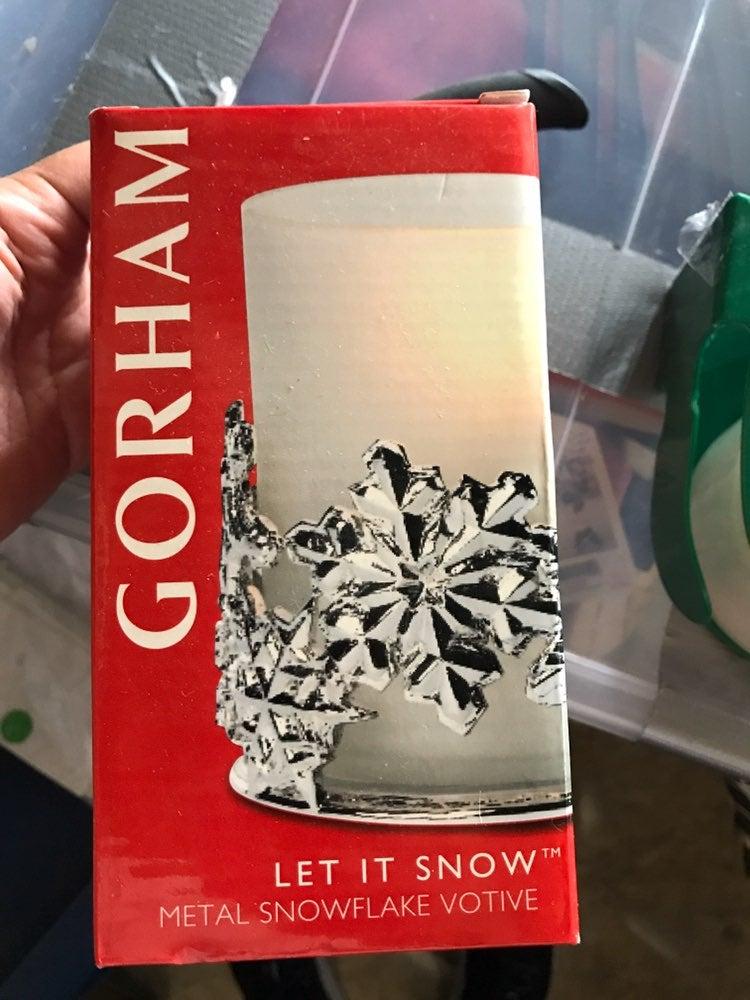 New Gorham let it snow metal snowflake