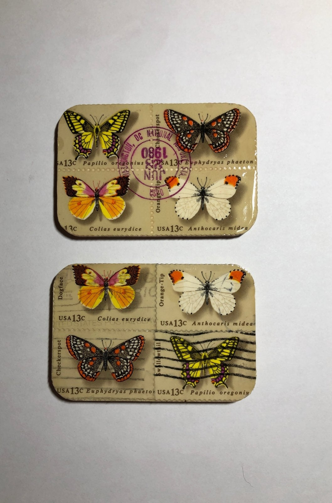 Butterfly Postage 13c Stamp Magnets