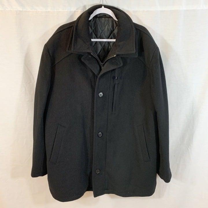 Geoffrey Beene Peacoat Jacket Mens Lined