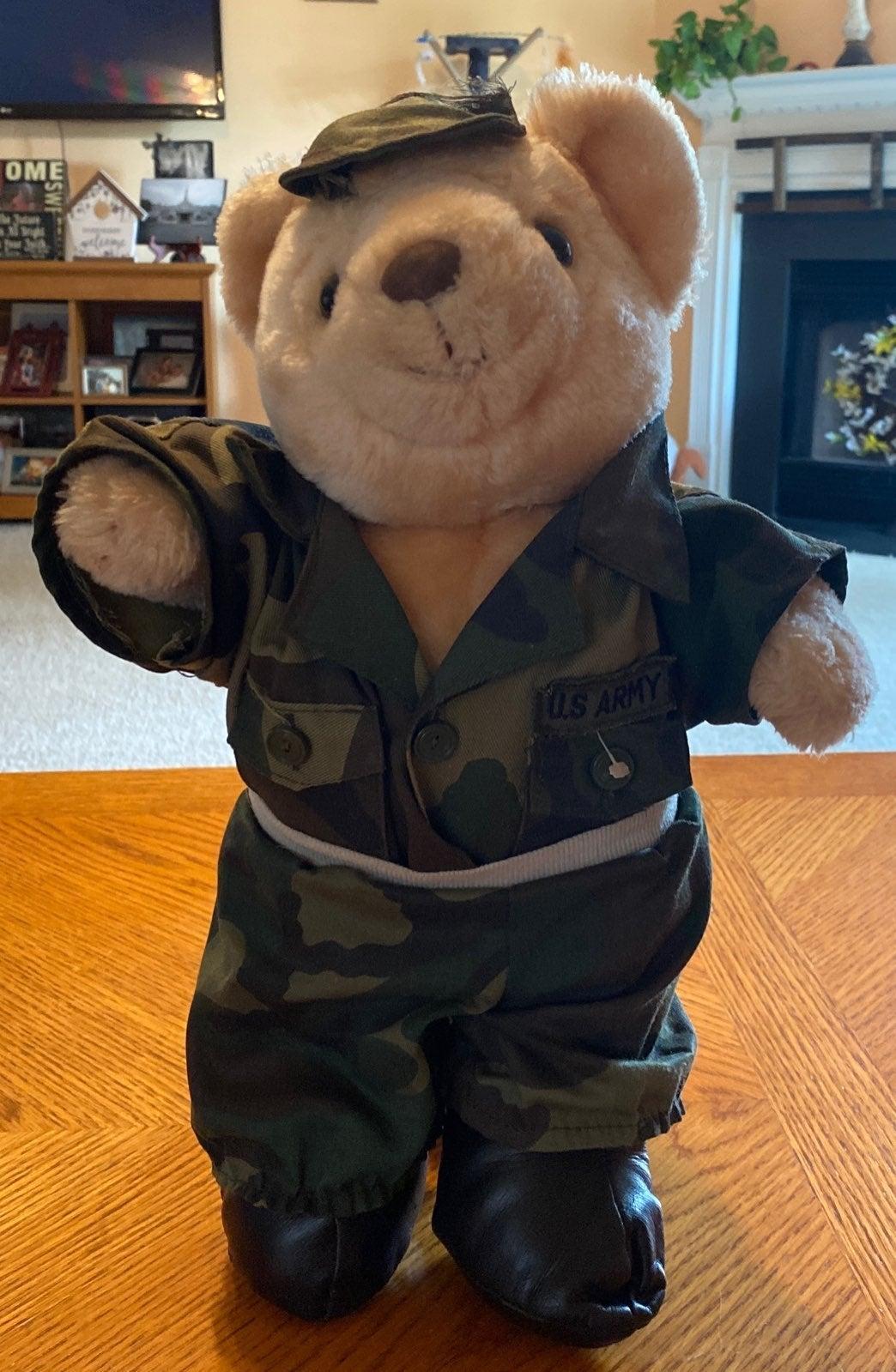 Stuffed Army Bear