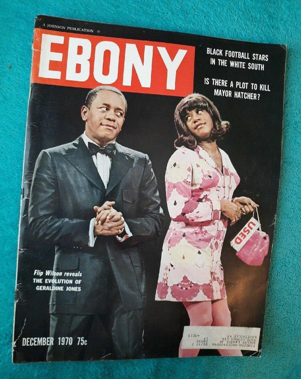 Dec. 1970 Ebony Magazine. Scarce.