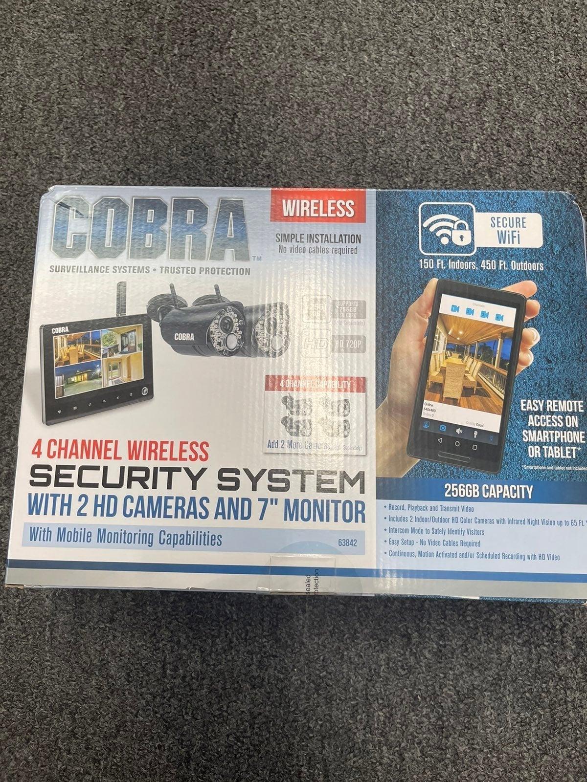 "Cobra Surveillance system 2HD 7"" Monitor"