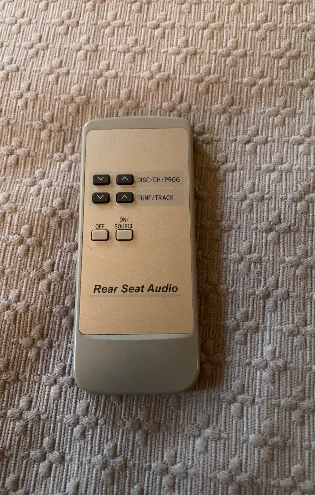 Rear sear audio remote control for toyot