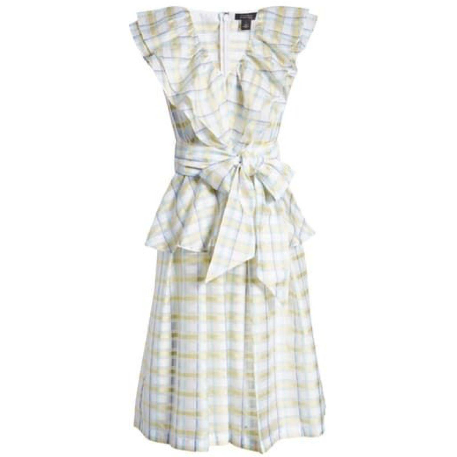 Halogen x Atlantic Pacific Plaid Dress L