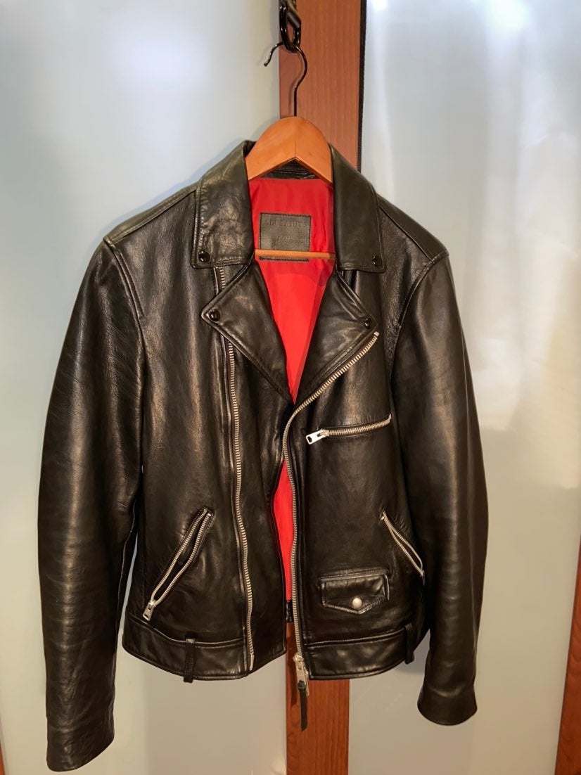 ALLSAINTS Leather Biker Jacket, sz SMALL