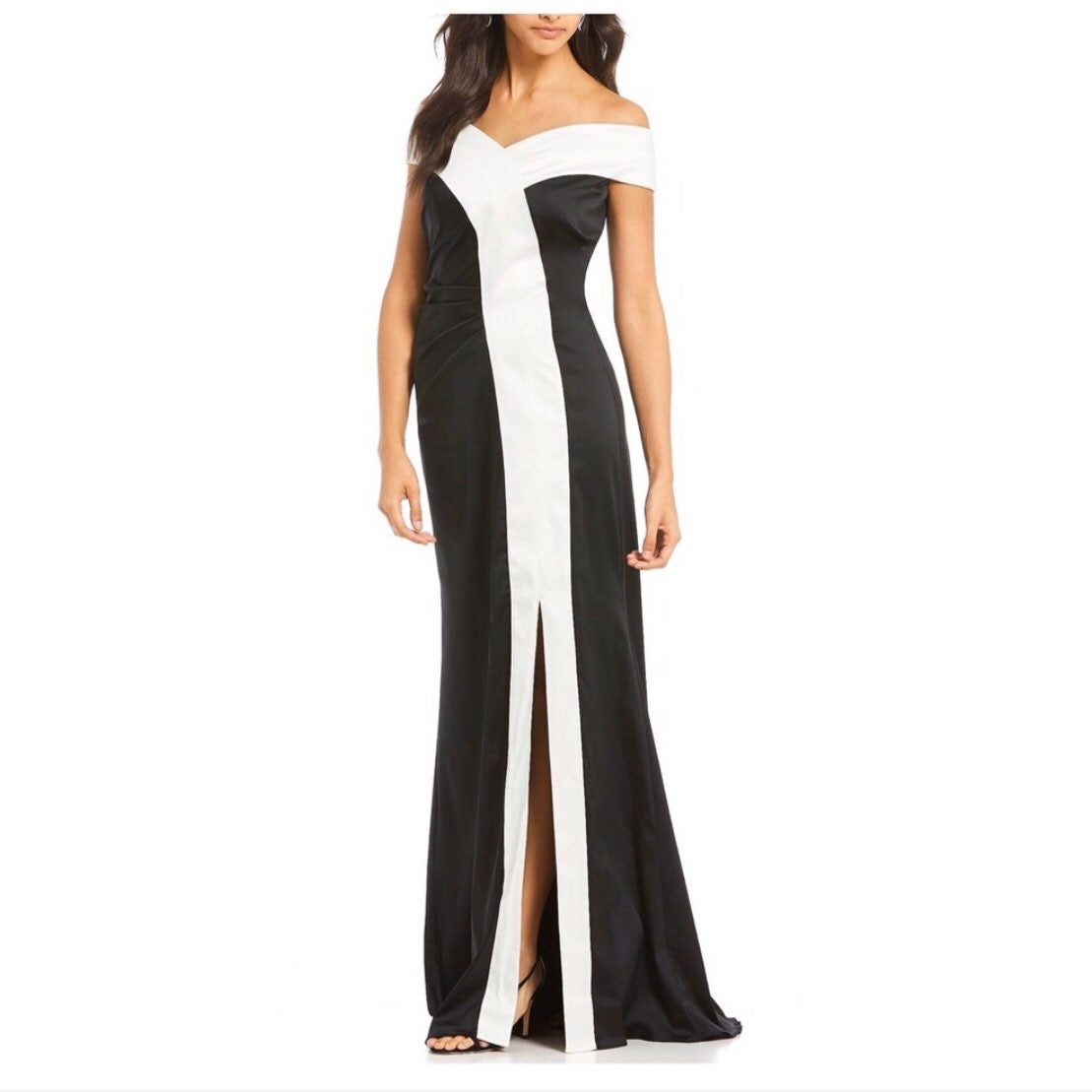 $695 NWT Kay Unger Off Shoulder Gown