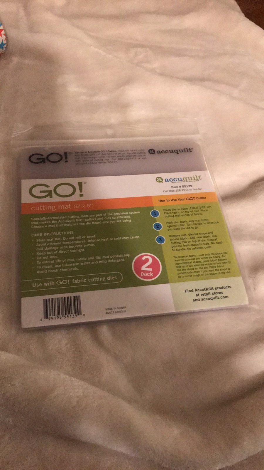 AccuQuilt GO! Cutting Mat-6 x 6 2-Pack