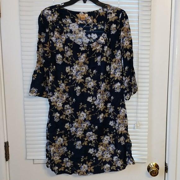 April Cornell Medium Blue Floral Dress